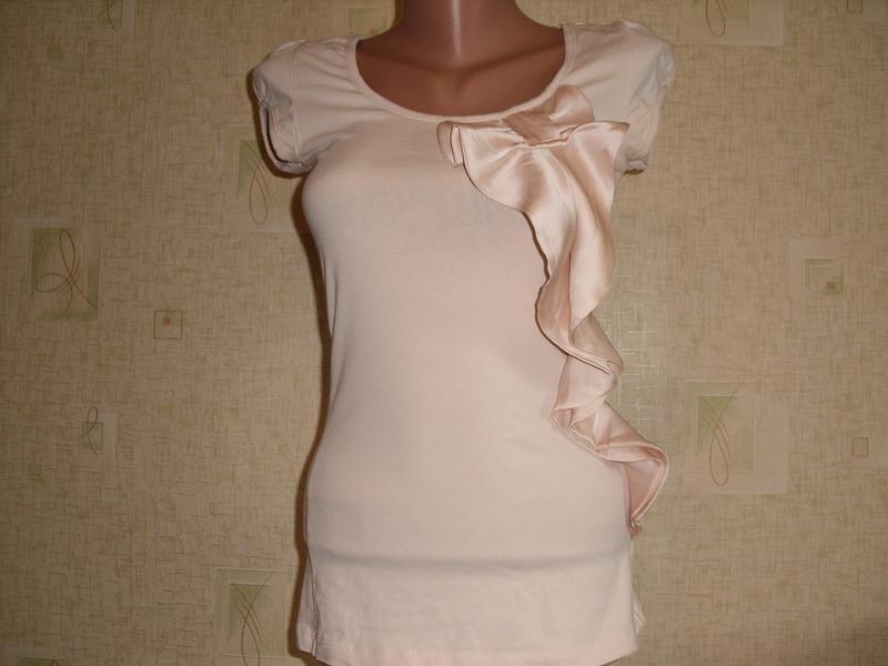 Красивая трикотажная блузка, р. 42-44 фото №1