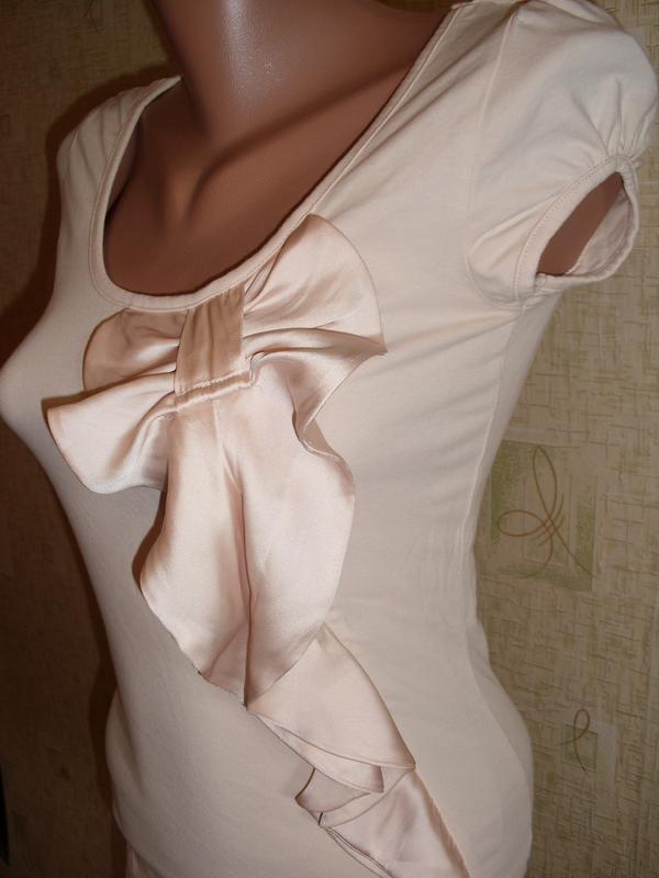Красивая трикотажная блузка, р. 42-44 фото №2