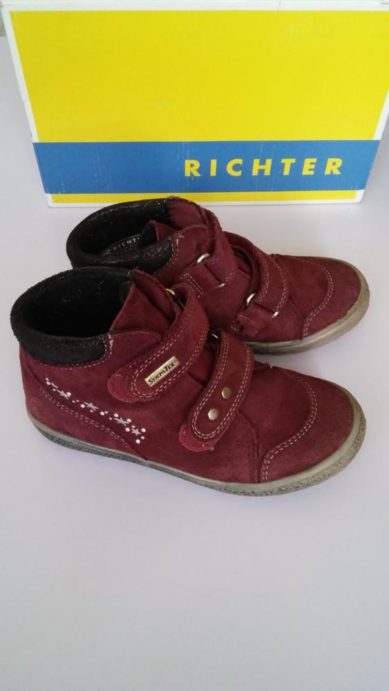 Демисезонные утепленные кожаные ботинки richter, р. 27 фото №1