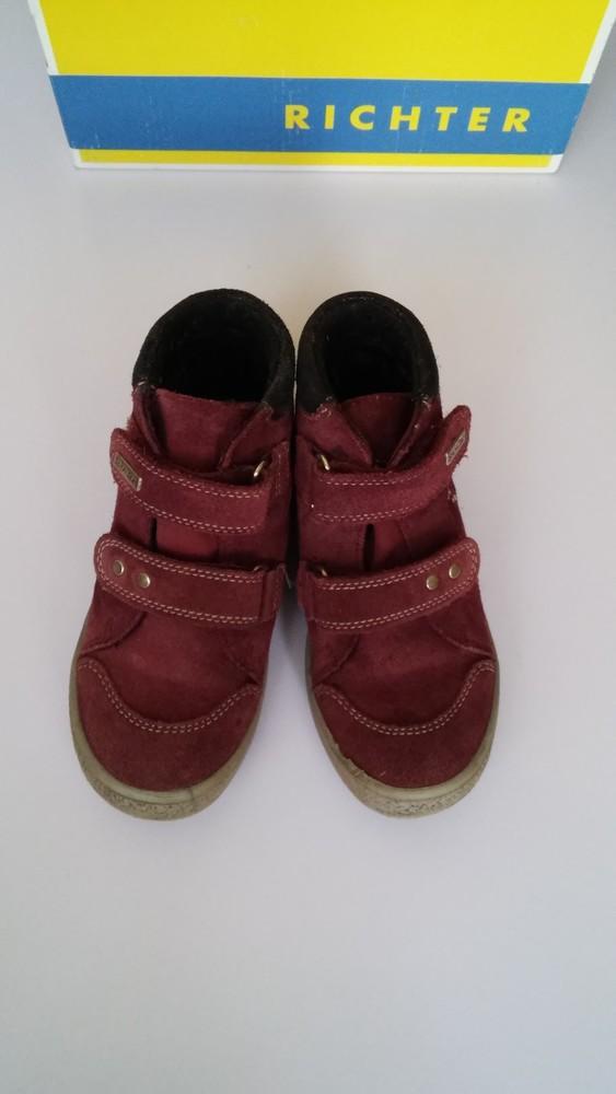 Демисезонные утепленные кожаные ботинки richter, р. 27 фото №2