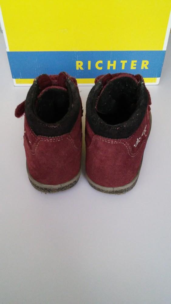 Демисезонные утепленные кожаные ботинки richter, р. 27 фото №3