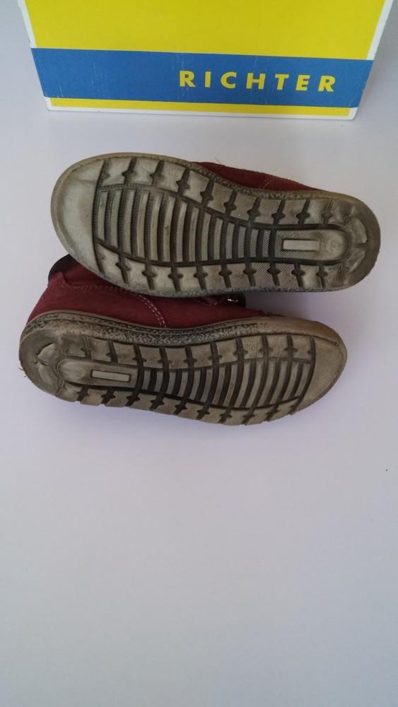 Демисезонные утепленные кожаные ботинки richter, р. 27 фото №4