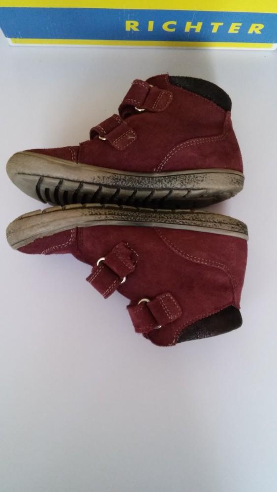 Демисезонные утепленные кожаные ботинки richter, р. 27 фото №5