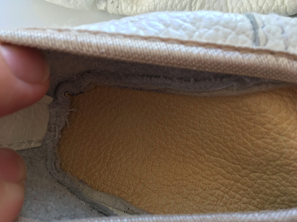 Кожаные чешки для девочки 17,5 см фото №4