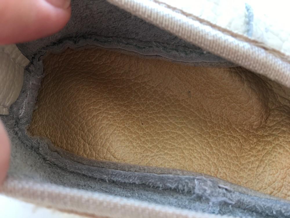 Кожаные чешки для девочки 17,5 см фото №3