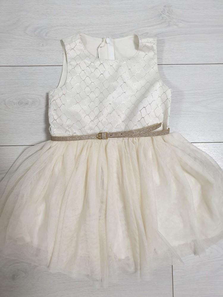 Шикарное платье в золотом стиле 104-116 см фото №1