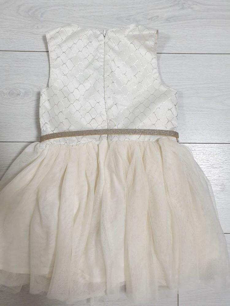 Шикарное платье в золотом стиле 104-116 см фото №2