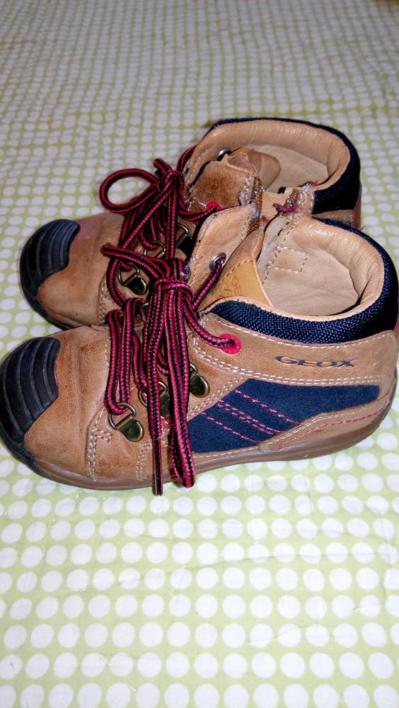 Ботинки geox, 100% кожа, демисезонные ортопедическая стелька фото №1