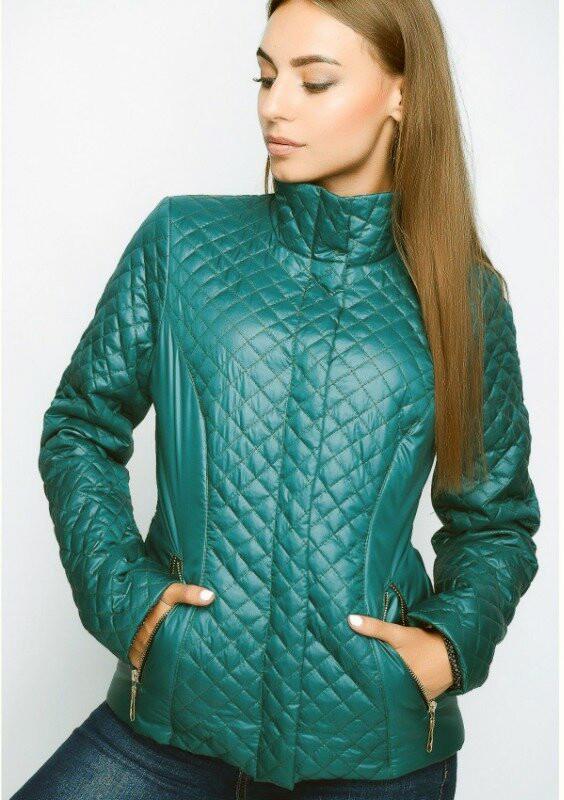 Стеганая женская куртка весна-осень, р.42 фото №1