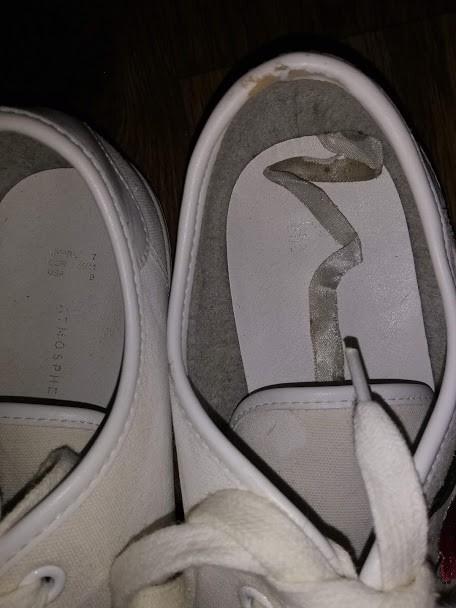 Женский белые кеды, мокасины на шнурках с вышивкой 41 р. atmosphere фото №7