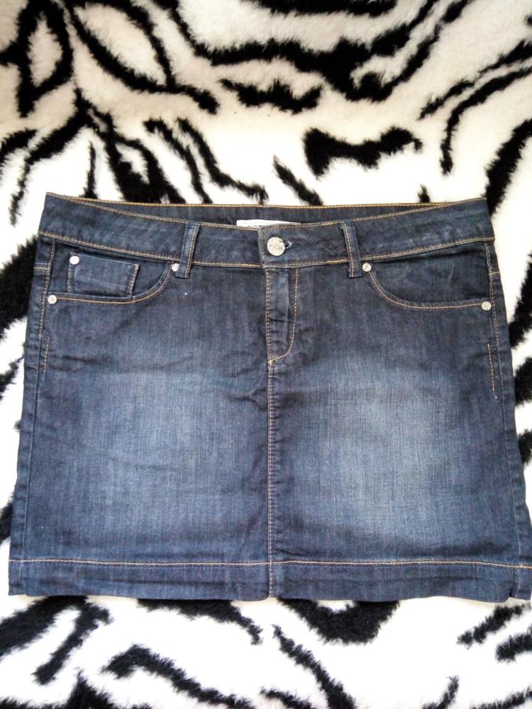 Классная джинсовая юбка бренда clockhouse фото №1
