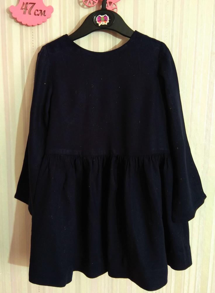Темно-синее платье zara со звездами р. 3-4 года фото №1