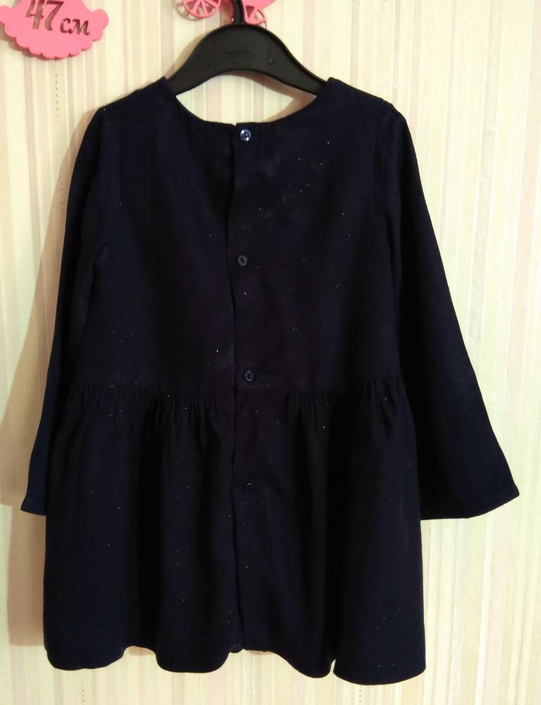 Темно-синее платье zara со звездами р. 3-4 года фото №2