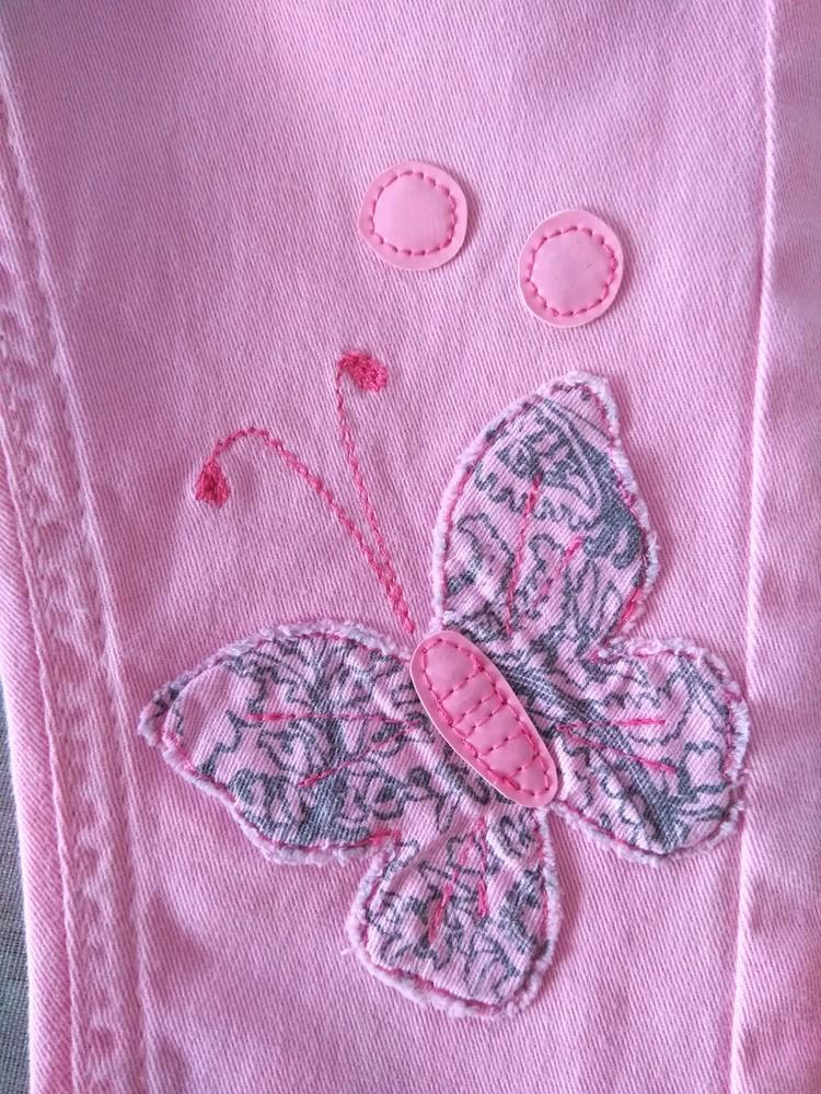 Классные розовые брюки minoti р. 12-18 мес фото №4