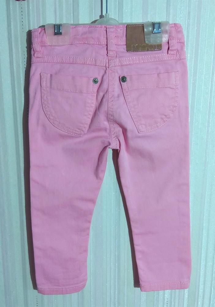 Классные розовые брюки minoti р. 12-18 мес фото №2