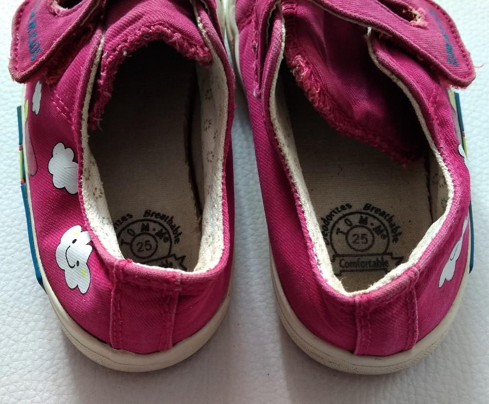 Розовые текстильные кеды tom.m р. 25 фото №7