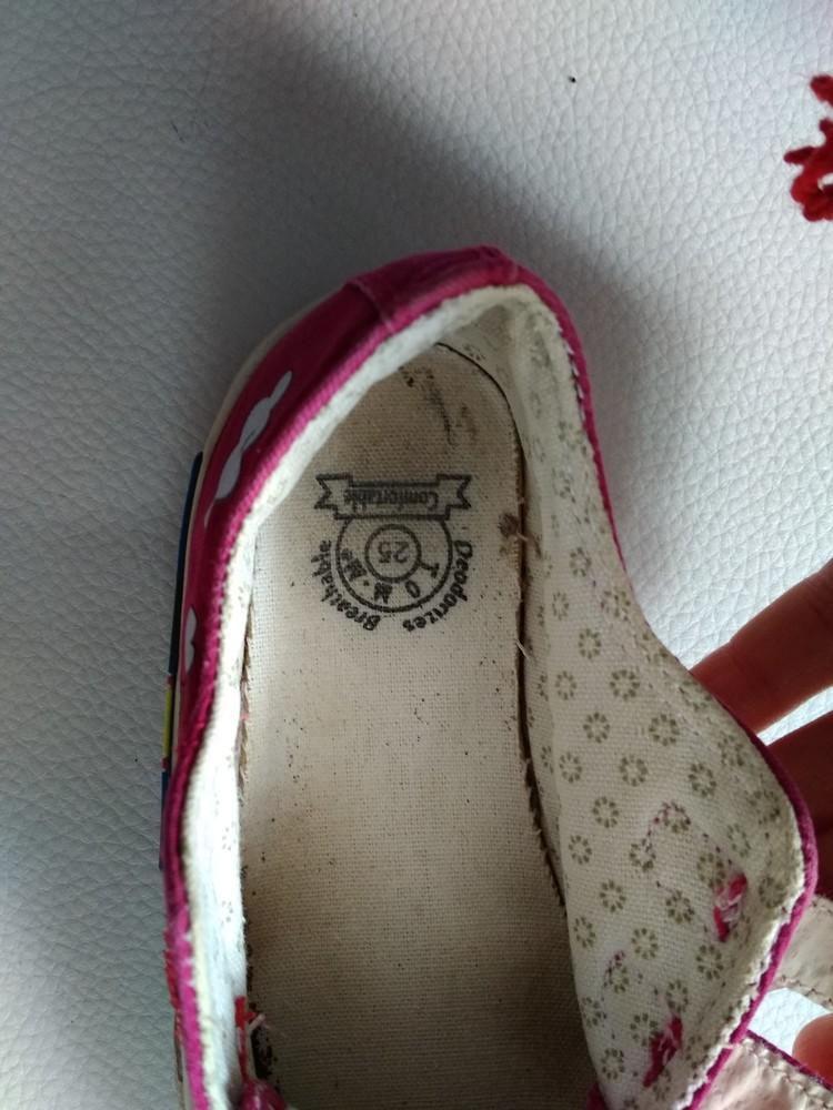 Розовые текстильные кеды tom.m р. 25 фото №8