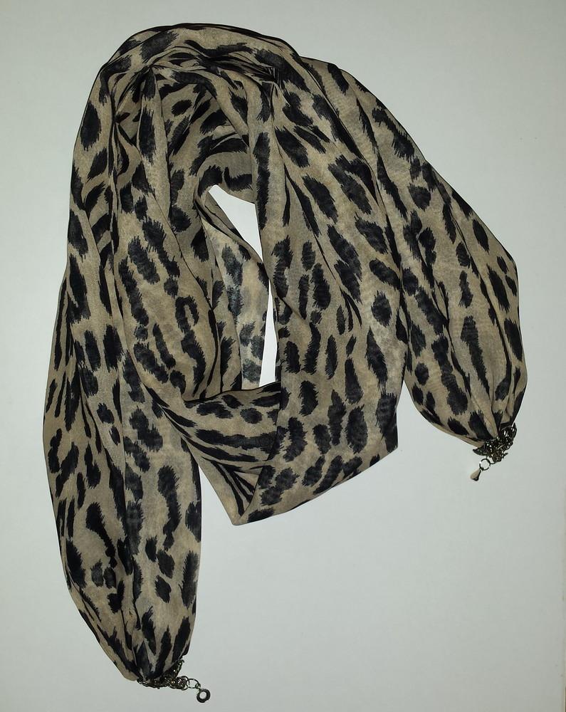 Одежда аксессуары для женщин шарф хомут снуд леопардовая расцветка на застёжке фото №5
