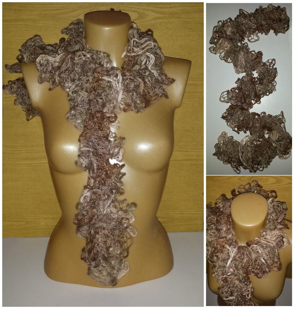 Одежда аксессуары для женщин шарф нарядный кружевной фото №1
