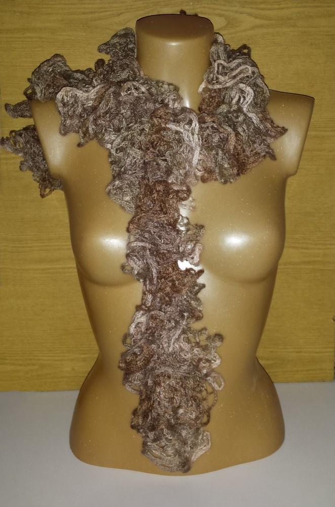 Одежда аксессуары для женщин шарф нарядный кружевной фото №2