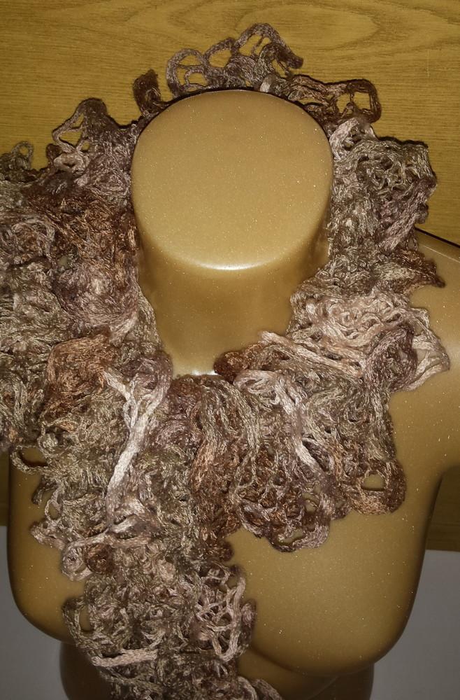 Одежда аксессуары для женщин шарф нарядный кружевной фото №5