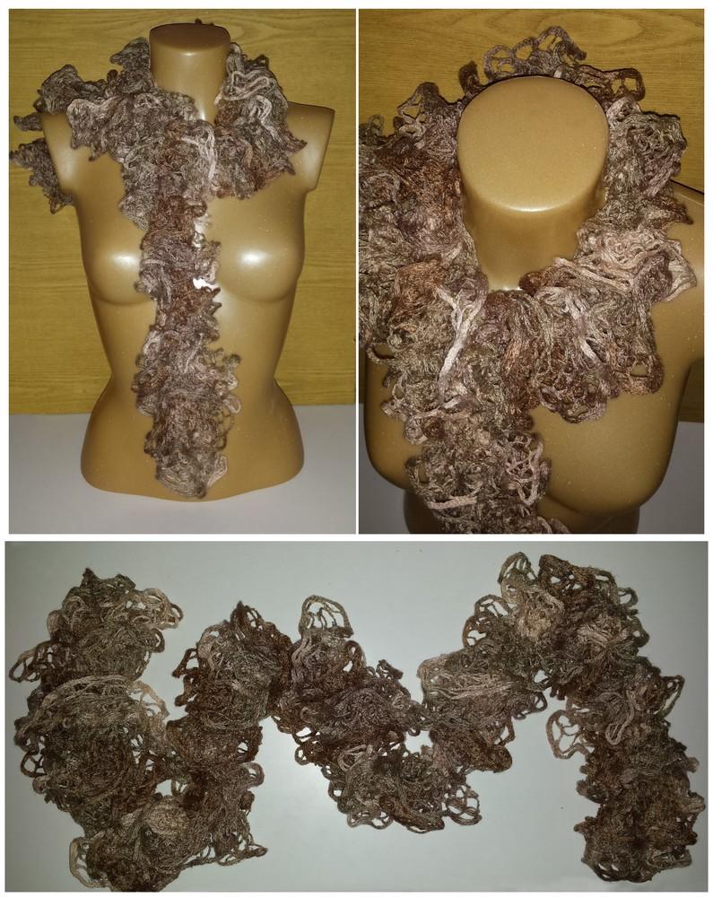 Одежда аксессуары для женщин шарф нарядный кружевной фото №7