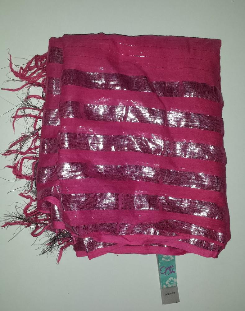 Одежда аксессуар вещи женские шаль палантин платок цвет фуксия фото №4
