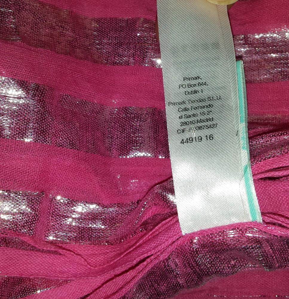 Одежда аксессуар вещи женские шаль палантин платок цвет фуксия фото №5