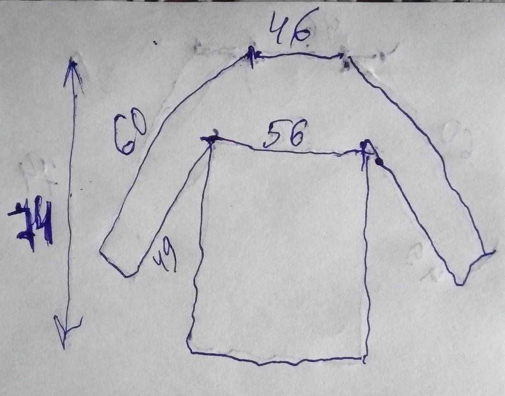 Ветровка, легкая весенняя куртка, пог 56 см фото №3