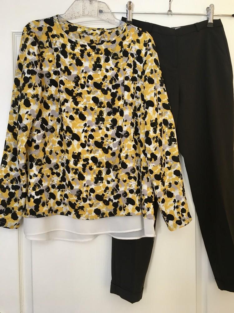 Блузка с принтом свободного кроя h&m фото №1