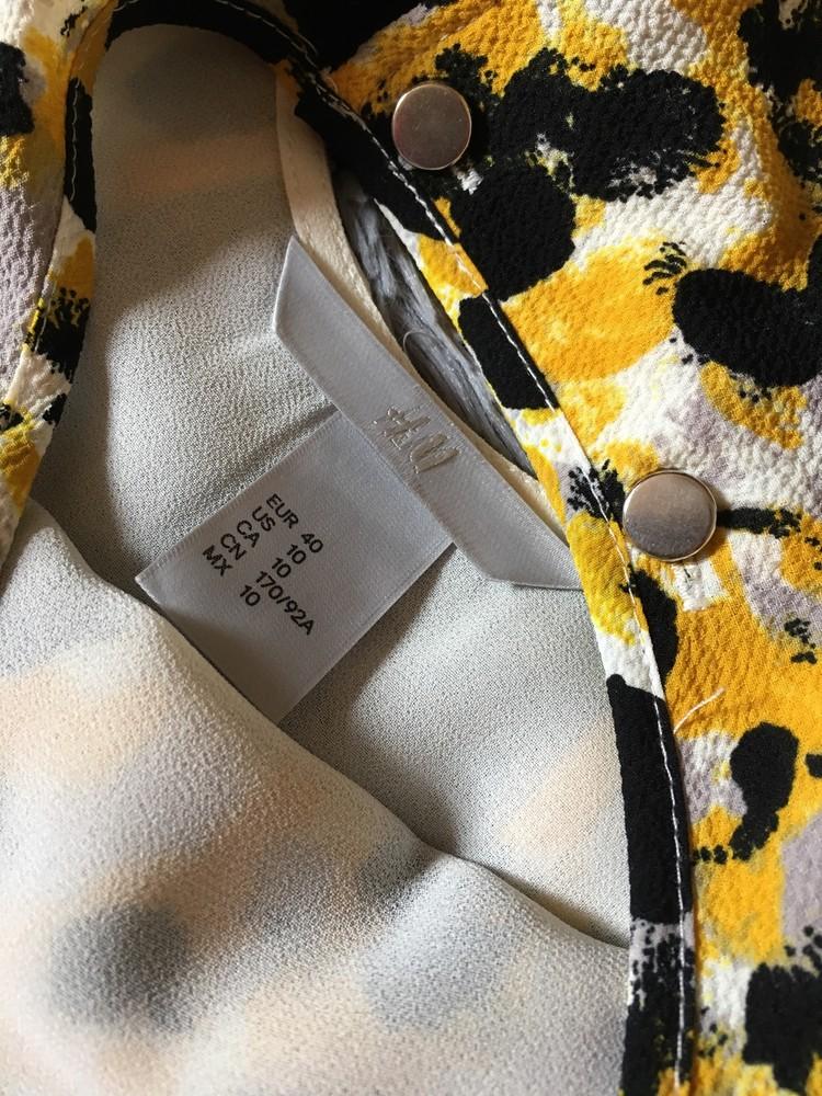 Блузка с принтом свободного кроя h&m фото №3
