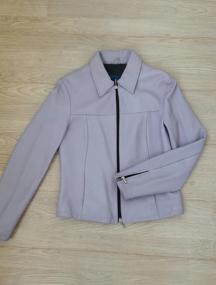 Итальянская кожаная куртка пиджак піджак женская, s, 36 фото №1