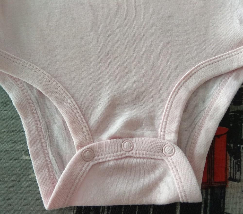 Розовый боди / бодик carter's с надписью р. 18 мес фото №4