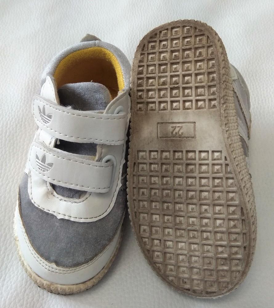 Серебряно-белые кроссовки adidas (реплика) р. 22 фото №3