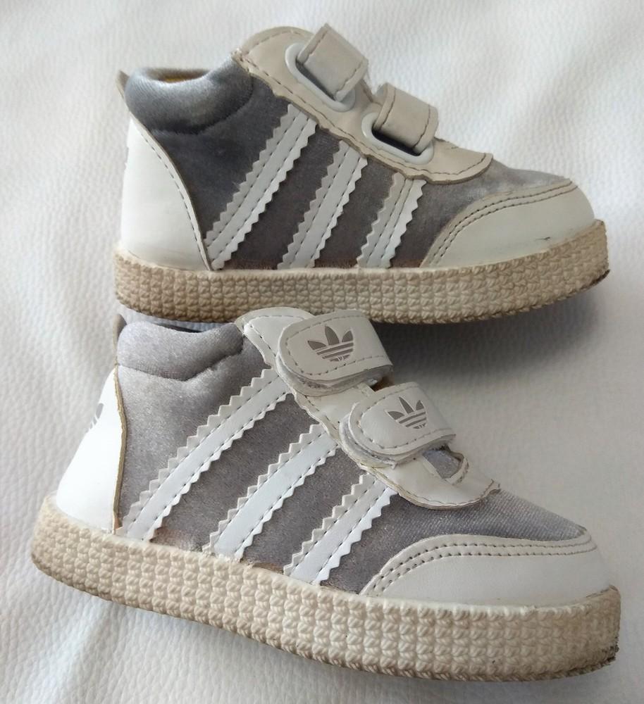 Серебряно-белые кроссовки adidas (реплика) р. 22 фото №4