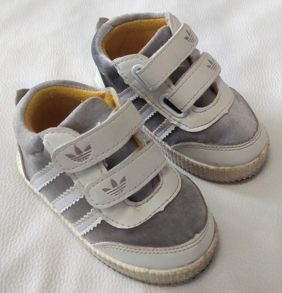Серебряно-белые кроссовки adidas (реплика) р. 22 фото №1