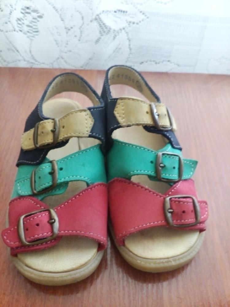 Босоножки кожаные 26 р 16 см. сандалики фото №3