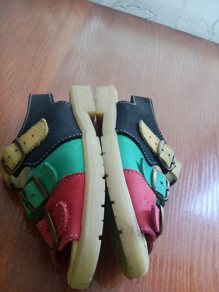 Босоножки кожаные 26 р 16 см. сандалики фото №4