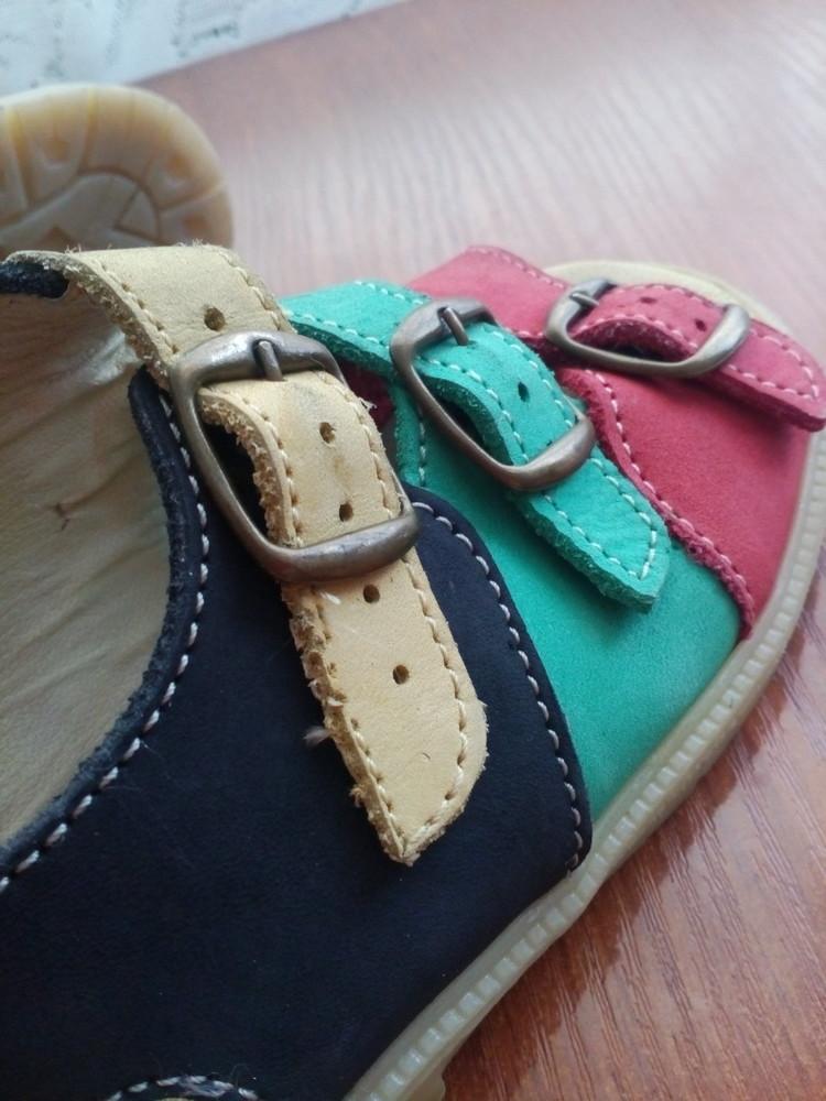 Босоножки кожаные 26 р 16 см. сандалики фото №5