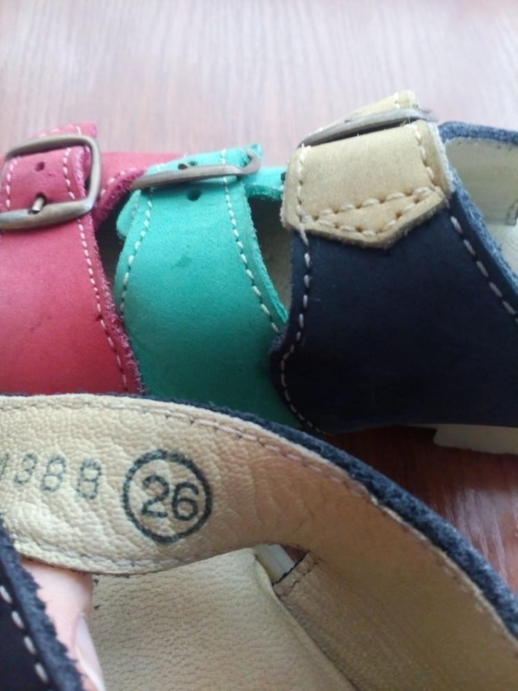 Босоножки кожаные 26 р 16 см. сандалики фото №6