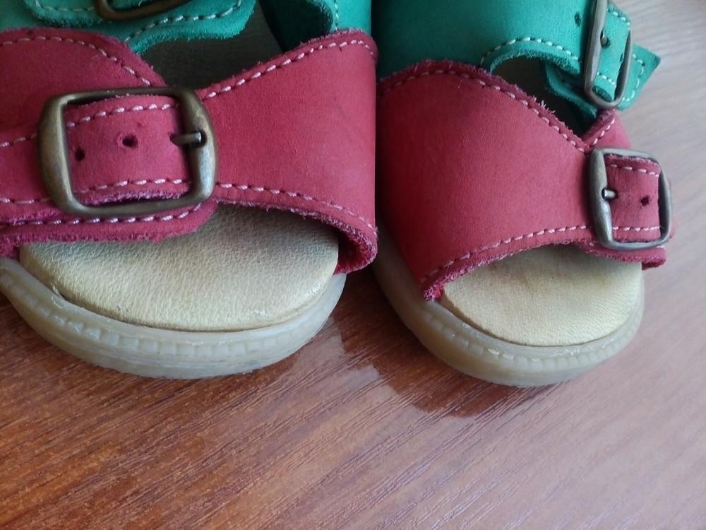 Босоножки кожаные 26 р 16 см. сандалики фото №7