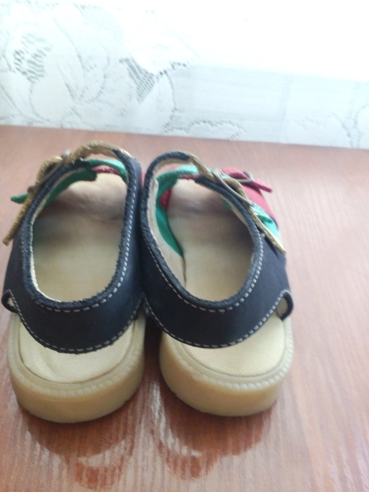 Босоножки кожаные 26 р 16 см. сандалики фото №8