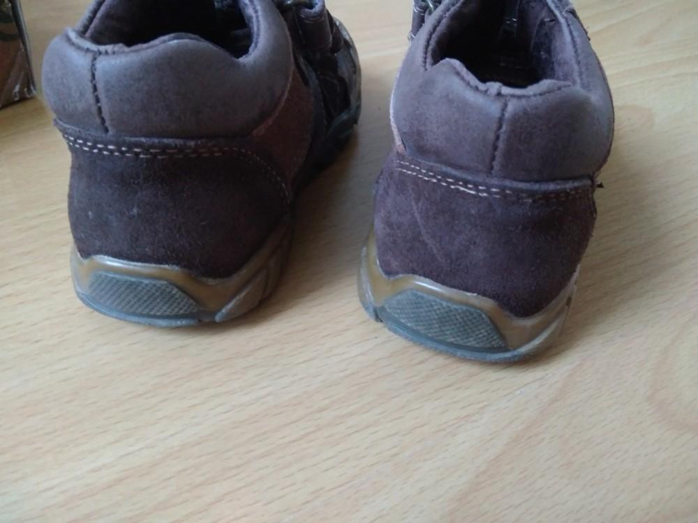 Демісезонні черевики з натурального замшу, 15,5 см + подарунок! фото №3