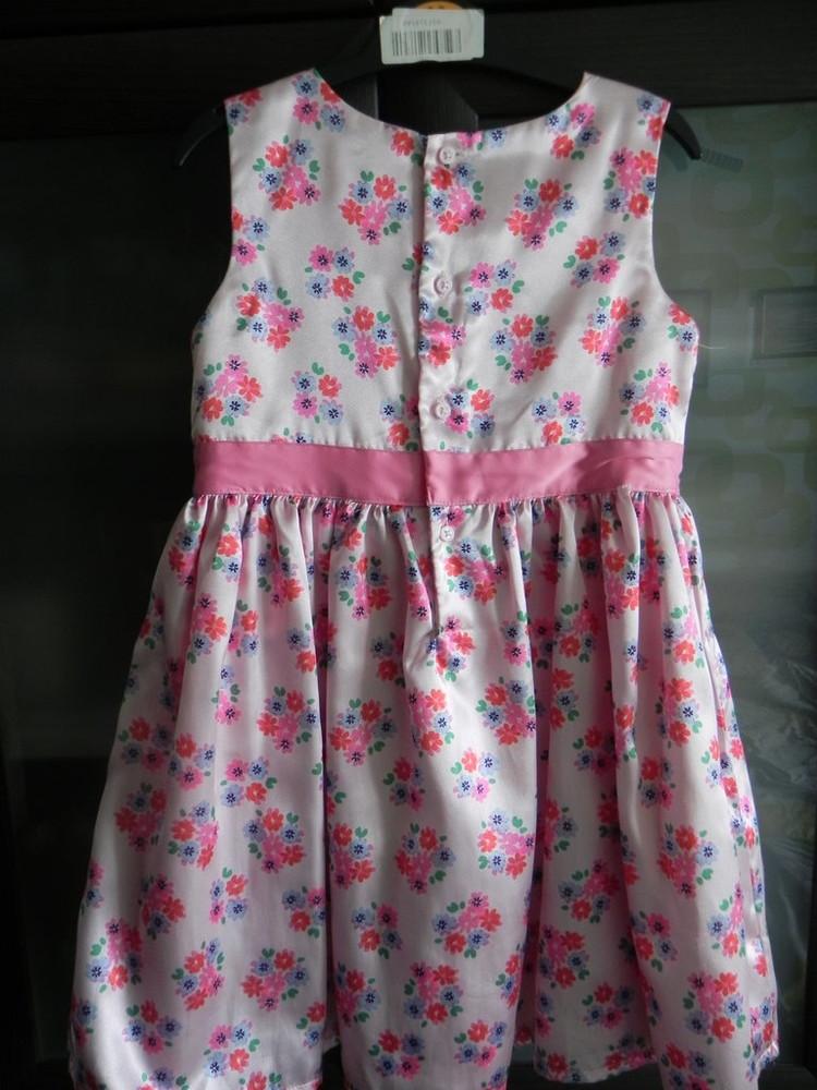 Нарядное платье carter's на девочку 4t, б,у фото №2