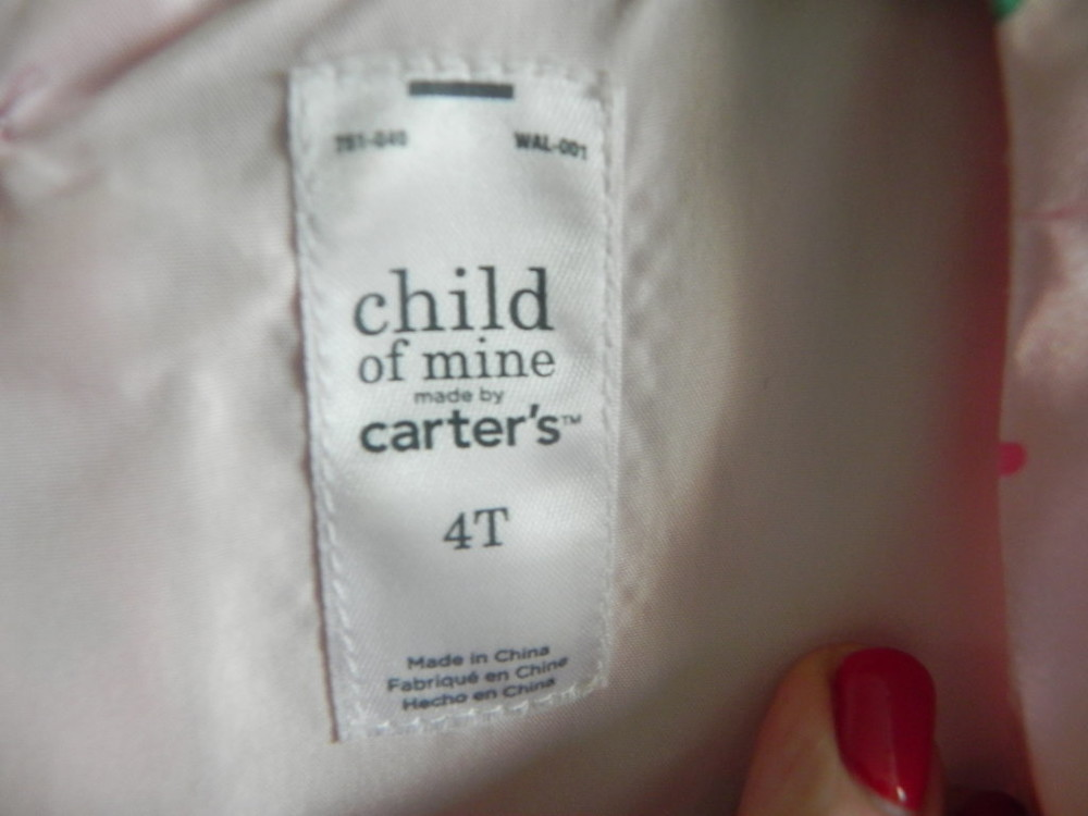 Нарядное платье carter's на девочку 4t, б,у фото №5