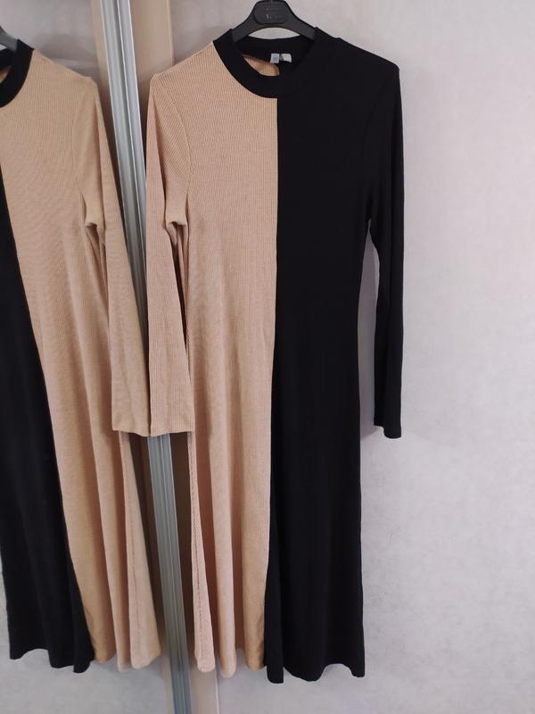 """Asos стильное двухцветное трикотажное платье в """"рубчик"""", l-ка фото №5"""