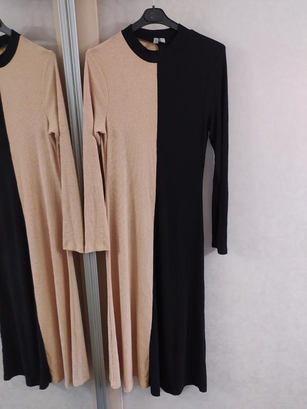 """Asos стильное двухцветное трикотажное платье в """"рубчик"""", l-ка фото №6"""