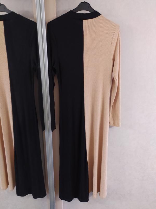"""Asos стильное двухцветное трикотажное платье в """"рубчик"""", l-ка фото №8"""