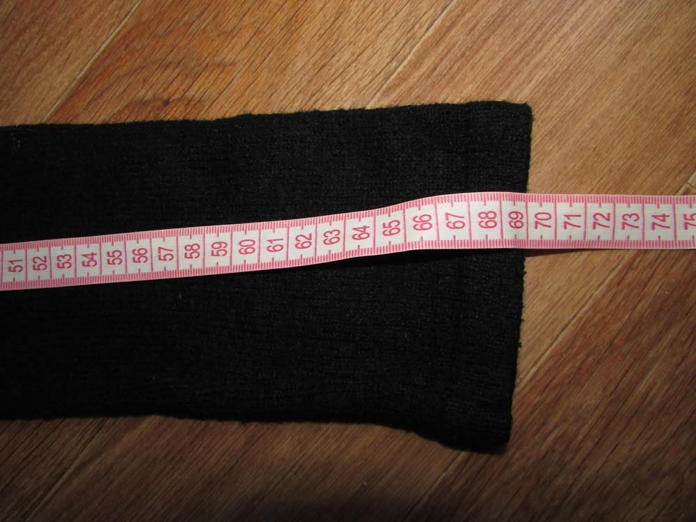 Черная кофта накидка на завязках с вышивкой. фото №4