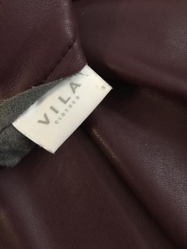 Юбка миди, юбка эко кожа, облегающая юбка, юбка вишневого цвета,vila,юбка карандаш фото №5